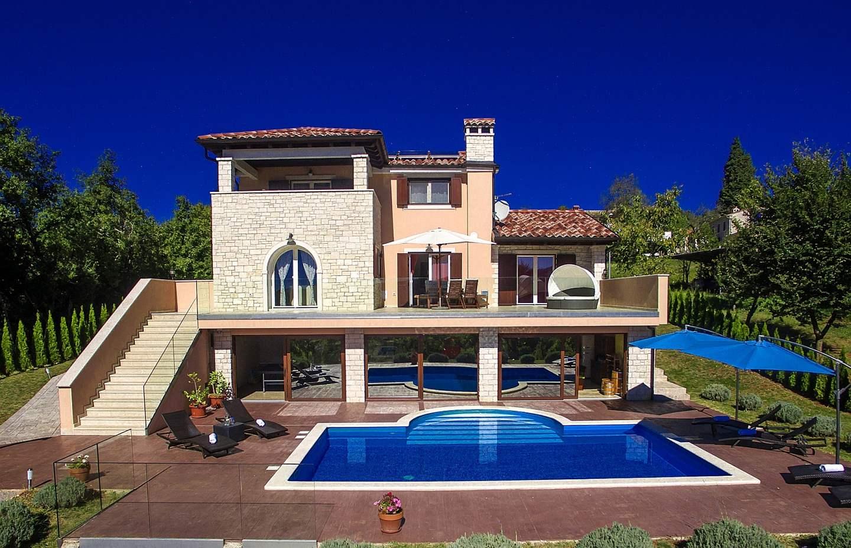 Vily, Buzet, Stredná Istria - Villa Brazzana