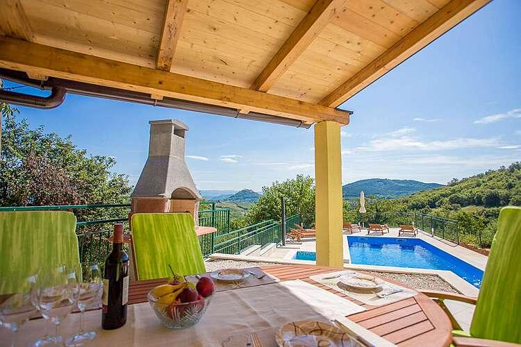 Patio / Balcony — Villa Ana Spinovci — Špinovci, Karojba, Central Istria (Villa with pool) (3/32)