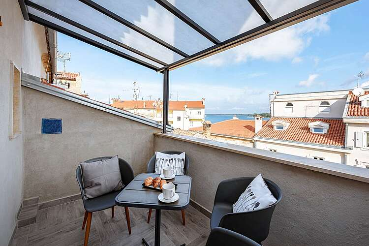 Terras / Balkon — App Peschiera — Poreč, Poreč (Appartement) (2/16)