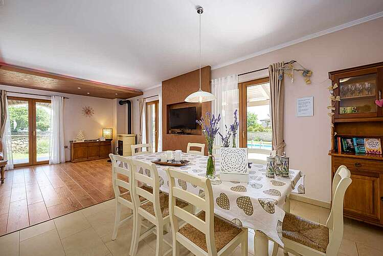 Dining Room — Villa Neo — Ribari, Tinjan (Villa with pool) (3/39)