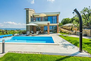 Villa Fresco — Oslići, Cerovlje, Central Istria (Villa with pool) - Swimming Pool