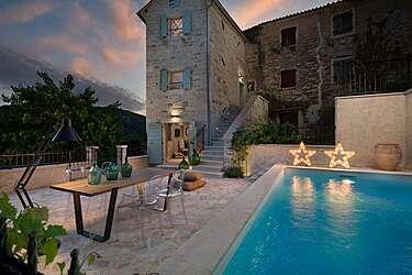Casa Gradinje — Livade, Buzet (Villa met zwembad) - Zwembad