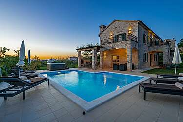 Villa Ruk — Barat, Višnjan (Villa met zwembad) - Zwembad